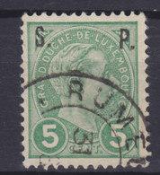 Luxembourg Dienstmarke 1895 Mi. 608    5c. Grossherzog Adolf Aufdruck Overprinted 'S.P.' - Dienst