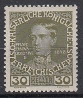 OOSTENRIJK - Michel - 1908 - Nr 148x - MH* - Nuovi