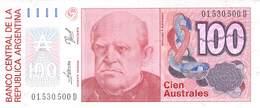 Cien Australes (100) Banknote Argentinien UNC - Argentinien