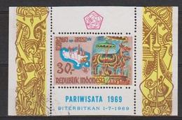 Indonesie Indonesia Blok Sheet Nr.650 (B15) Used ; Ter Stimulering Van Het Toerisme Op Bali 1969 - Vakantie & Toerisme