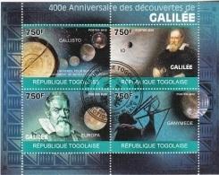 3489 Togo 2010  400th Anniv. Des Decouvertes De Galileo Galilei  CTO Perf. Callisto Ganimede - Togo (1960-...)
