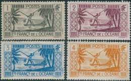 French Oceania 1934 SG83-86 Spearing Fish MLH - Oceania (1892-1958)