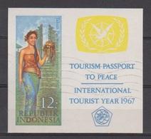 Indonesie Indonesia Blok Sheet 586 (B7) Used ; Internationale Jaar Van Het Toerisme 1967 - Vakantie & Toerisme