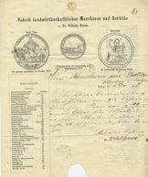 """1857 LEIPZIG,Dr.Wilhelm Hamm,,Fabrik Landwirtschaftlicher Maschinen Und Geräte"""" PREIS-COURANT - Documenti Storici"""