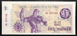 Albania  1  Lek Valute 1992 Unc Fds Con Numeri LOTTO 2397 - Albania