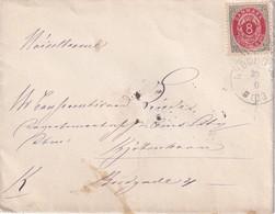 DANEMARK 1879 LETTRE DE NYBORG - Brieven En Documenten