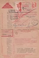 MANDAT POSTAL CONTRE REMBOURSEMENT REFUSE - 11/1951 - BONNETIERS LILLE - Errors & Oddities