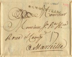 1739 LONDON Stpl. D'ANGLETERRE Transit N. Marseille - Grande-Bretagne