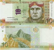 PERU       10 Soles       P-New       10.3.2016 (2017)       UNC - Perù