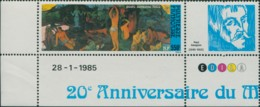 French Polynesia 1985 Sc#C212,SG447 550f Where Have We Come From? Painting MNH - Polynésie Française