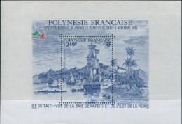 French Polynesia 1985 Sc#C216,SG459 Italia Stamp Exhibition MS MNH - Polynésie Française