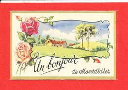 80 MONTDIDIER  Cpa Fantaisie Un Bonjouir - Montdidier