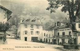 HAUTE SAVOIE   SAINT GERVAIS LES BAINS  Place De L'église - Saint-Gervais-les-Bains