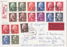 DANEMARK 1979 LETTRE RECOMMANDEE EXPRES DE SILKEBORG - Lettres & Documents