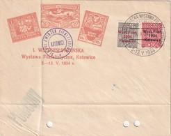 POLOGNE 1934 LETTRE DE KATOWICE - 1919-1939 République