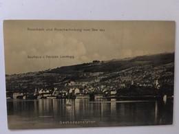 CPA, Rorschach Und Rorschacherberg Vom See Aus, SEEBADEANSTALTEN, Pension Landegg - SG St. Gallen