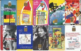 """LOT De 10 Télécartes , FRANCE TELECOM """" ILLUSTREES De 1999 à 2000  """" Voir Scans - Télécartes"""