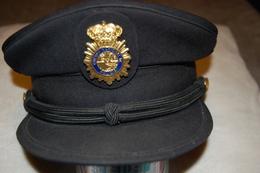 ESPANA - Casquette De Police - Cuerpo National De Policia Espana - Casques & Coiffures