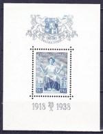 ** Tchécoslovaquie 1938 Mi 403 - Bl.5 (Yv BF 7), (MNH), - Czechoslovakia