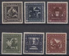 OOSTENRIJK - Michel - 1926 - Nr 488/93 I - MH* - 1918-1945 1ère République