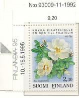 PIA - FINL  - 1993 : Centenario Della Prima Associazione Filatelica Finlandese - Rosa - (Yv 1174) - Rose