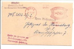 Ema Freistempel Berlin 21.11.27 Amtsgericht X046 - Storia Postale