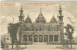 ESPOSIZIONE MILANO 1906 - PADIGLIONE DEL BELGIO ,B/N,ANIMATA,VIAGGIATA,1906, - Esposizioni