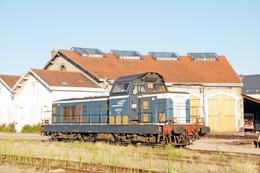 Autun (71 - France)  1er Août 2009 - La BB 66202 Au Dépôt D'Autun - Trains