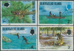 Gilbert Ellice Islands 1971 SG173-176 Island Life FU - Gilbert & Ellice Islands (...-1979)