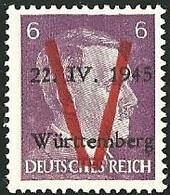 FRANCE LIBERATION...WURTEMBERG 6pf**violet..Signé P MAYER - Libération