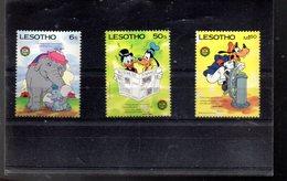 LESOTHO 657/659** SUR DES PERSONNAGES DE DISNEY POUR NOEL 1985 - Lesotho (1966-...)