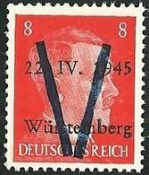 FRANCE LIBERATION...WURTEMBERG 8pf**Oge.Signé P MAYER - Libération