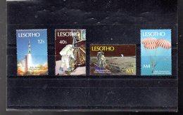 LESOTHO 860/863** SUR LE 20E ANNIVERSAIRE DE L HOMME SUR LA LUNE - Lesotho (1966-...)