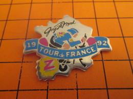 216c Pins Pin's / Rare & Belle Qualité  THEME CYCLISME / TOUR DE FRANCE 1992 GREG LEMOND EQUIPE Z - Cycling