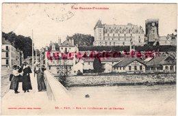 64- PAU - RUE DU 14 JUILLET ET LE CHATEAU - USINE GOUGET CONSTRUCTIONS MECANIQUES - Pau