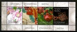 Croatia 2010 Croatia / Textile Flowers MNH Blumen Flores Fleurs / Cu13329  40-24 - Sin Clasificación