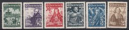 OOSTENRIJK - Michel - 1933 - Nr 557/62 - MH* - 1918-1945 1ère République