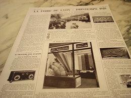 ANCIENNE AFFICHE SUR LA  FOIRE DE LYON  PRINTEMPS 1928 - Other