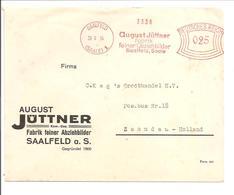 Ema Freistempel Saalfeld 20.9.34 ABZIEHBILDER - Briefe U. Dokumente