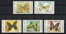 Laos 1991 Mi 1281 – 1285 4 X MNH +1 X MH - Laos