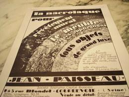 ANCIENNE PUBLICITE ETABLISSEMENT PAISSEAU LA NACROLAQUE  1928 - Other