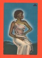 Donna Etiope AOI Cpa Viaggiata 1937 Woman Femme D'Afrique - Africa