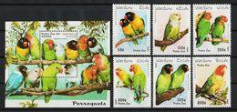 Laos 1997 Mi 1564 – 1569 Parrots MNH - Laos