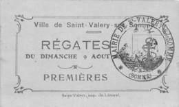 80-SAINT-VALERY-SUR-SOMME- TICKET DE REGATES DE ST VALERY - Billets D'embarquement De Bateau