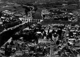 CPSM Grand Modèle, La France Vue Du Ciel, Laval, Le Viaduc Sur La Mayenne, L'Immaculée Conception - Laval