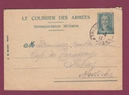 050619 - MILITARIA GUERRE 1914 18 FM Illustration Général NIVELLE - Courrier Des Armées 1917 - Marcophilie (Lettres)