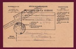 050619 - MILITARIA GUERRE 1914 18 FM Postes Gare De Rassemblement 6e Corps 1914 Ambulance D/14 17e Corps - Marcophilie (Lettres)