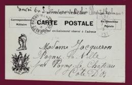 050619 - MILITARIA GUERRE 1914 18 FM Pagny La Ville Hôpital Exelmans Illustration Marianne Oublier  ... Jamais ! - Marcophilie (Lettres)
