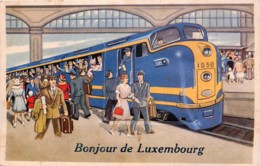 Luxembourg - Fantaisie - Bonjour De Luxembourg - Gare - Train - Voyageurs - Luxemburg - Town