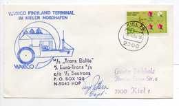 - Lettre KIEL (Allemagne) - PAQUEBOT MS TRANS BALTIC 6.3.1984 - - [7] Federal Republic